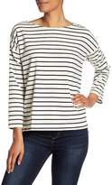 French Connection Spring Time Striped 3/4 Sleeve Top