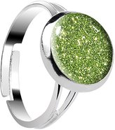 Body Candy Design Parrot Green Glitter Adjustable Ring