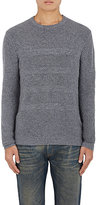 Barneys New York MEN'S MIXED-STITCH CASHMERE SWEATER