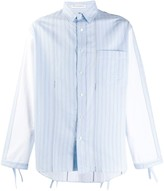 J.W.Anderson striped contrast-sleeve shirt