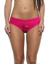 Grace Womens 6 Pack I Love You Printed Boy Short Panties Color