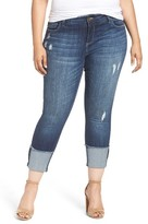 KUT from the Kloth Plus Size Women's Cameron Cuffed Straight Leg Jeans