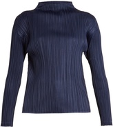 PLEATS PLEASE ISSEY MIYAKE High-neck pleated top