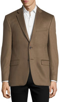 Neiman Marcus Cashmere Two-Button Blazer, Brown
