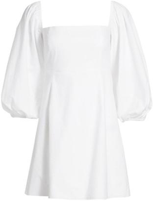 Cara Montauk Puff-Sleeve Flare Dress