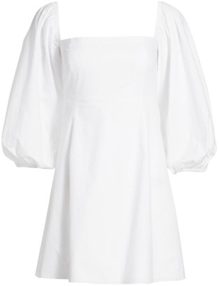 Cara Cara Montauk Puff-Sleeve Flare Dress
