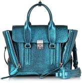 3.1 Phillip Lim Turquoise Pashli Medium Satchel