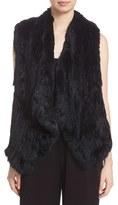 Alice + Olivia Women's 'Kensie' Draped Genuine Rabbit Fur Vest
