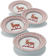 222 Fifth Deerly Loved Set of 4 Appetizer Plates
