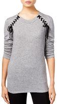 I.N.C International Concepts Petite Petite Lace-Up Sweater
