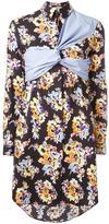 MSGM wrapped shirt dress - women - Cotton - 42
