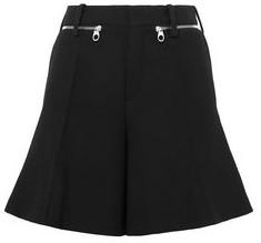Chloé Zip-detailed Wool-crepe Shorts