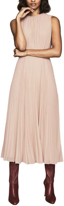 Reiss Pandora Pleated Dress