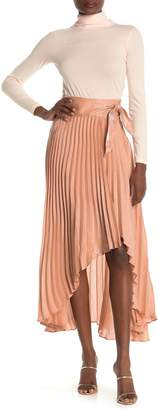 Do & Be Pleated Wrap Metallic Skirt