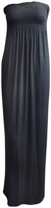Ditzy Fashion Ladies Plain Sheering Boob Tube Maxi Dress - Black - ML 12-14