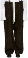 Y's Ys Black Camo Flannel Trousers