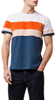 Jaeger Colour Block T-shirt, White/orange