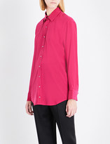 A.F.Vandevorst Double placket silk-blend shirt