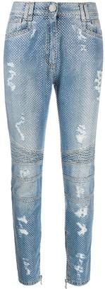 Balmain Crystal Embellished Jeans