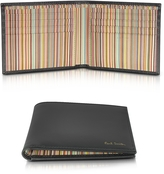 Paul Smith Black Leather Signature Stripe Interior Billfold Men's Wallet