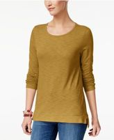 Style&Co. Style & Co High-Low Long-Sleeve T-Shirt, Created for Macy's