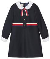 Gucci Children's flannel dress with Sylvie Web