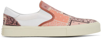 Amiri Pink Bandana Reconstruction Slip-On Sneakers