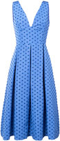 Lela Rose box pleated dots dress