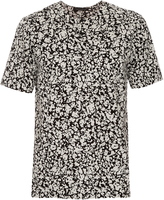 Christopher Kane Decay-print collarless cotton shirt