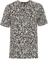 Christopher Kane Decay-print collarless cotton shirt
