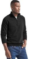 Gap Half zip mockneck sweater