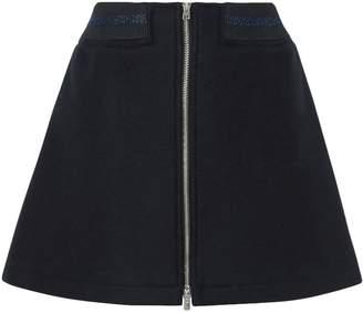 A.P.C. Charlotte Metallic-trimmed Wool-blend Mini Skirt