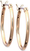 Nine West Earrings, Gold-Tone Small Tube Hoop Earrings