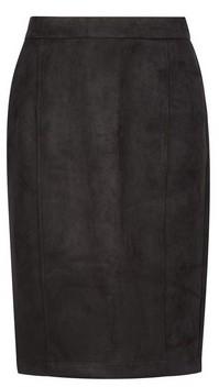 Dorothy Perkins Womens Vero Moda Black Suedette Midi Skirt, Black