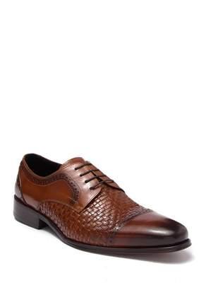 MAISON FORTE Antigua Woven Leather Derby