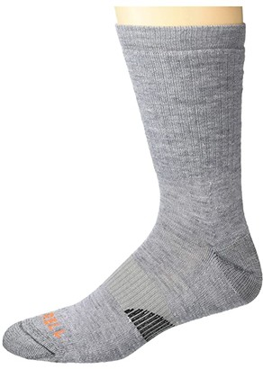 Merrell Merino Wool Lightweight Hiker Crew Socks 1-Pair (Grey Heather) Crew Cut Socks Shoes