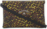 Vivienne Westwood leopard-print leather evelope clutch