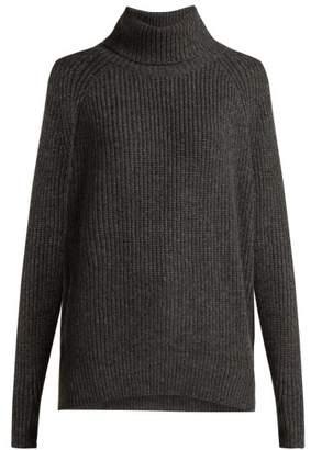 Nili Lotan Anitra Ribbed Roll-neck Wool-blend Sweater - Womens - Grey