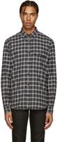 Belstaff Black & Grey Samuel Check Flannel Shirt