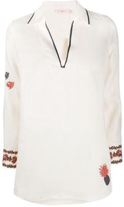 Tory Burch Embroidered Linen Shirt