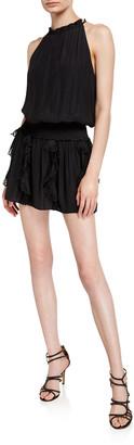 Ramy Brook Clyde Sleeveless Ruffle Eyelet Mini Dress
