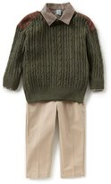 Class Club Little Boys 2T-7 Pullover Sweater, Button-Down Shirt, & Pants 3-Piece Set