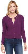 Juicy Couture Embellished Cable Sweater Cardigan