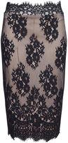 Quiz Black And Stone Lace Midi Skirt