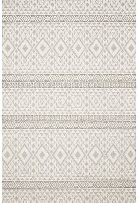 Union Rustic Hauge Ikat Ivory Indoor / Outdoor Area Rug