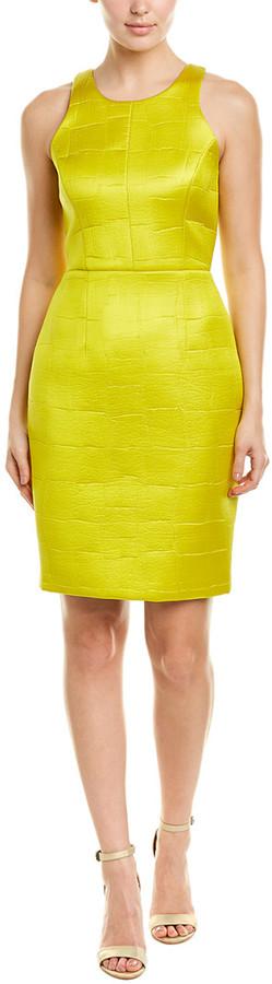 Milly Croc-Embossed Sheath Dress