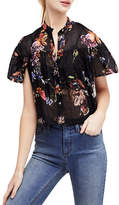 Free People Sweet Escape Cotton Button-Down Top