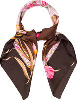 Leonard Floral Print Silk Scarf