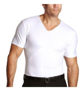 Instaslim Men's Big & Tall Insta Slim Compression Short Sleeve V-Neck T-Shirt