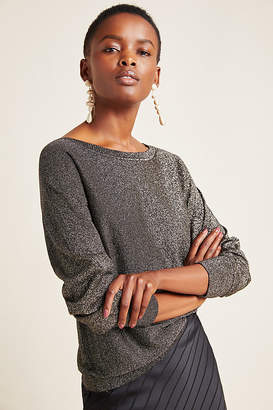 Velvet by Graham & Spencer Abril Shimmer Pullover By in Black Size XS